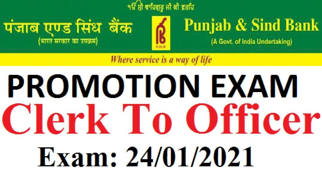 Punjab And Sindh Bank Promotion Exam Clerk To Officer